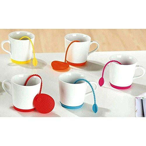 K & G theebeker met siliconen thee-ei | cadeauset | theebereider | met zeef mok keramiek met siliconen voet verkrijgbaar