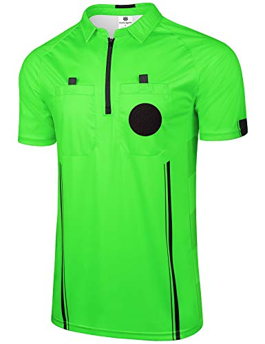 FitsT4 Pro Soccer Referee Jersey Short Sleeve Ref Shirts