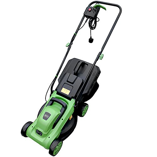 Charles Bentley 1200W 30L Electric Wheeled Rotary Lawnmower 3 Grass Cut Settings