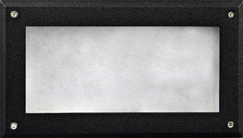 Dabmar Lighting DSL1001-B Open Face Incand 120V Step Light, Black Finish