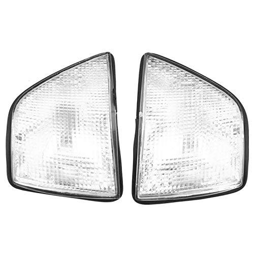 Yctze 1 Paar Auto-Ecklichtabdeckung, weiße Ecklichtabdeckung für 3er 318i 325i E36 4DR Limousine & Wagon 1992-1998