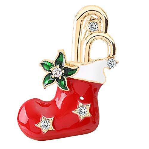 NXACETN Strumpf Bell Schneemann Weihnachtsbaum Legierung Brosche Pin Schmuck Schöne 1