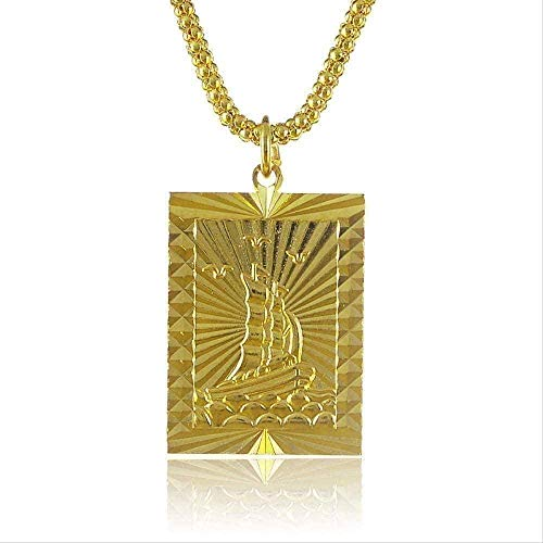 CXYCXY Co.,ltd Necklace Fashion Women Necklace 70Cm Long Chain Necklace Jewelry The Candle Pattern Gold Rectangle Pendant Necklace Elegant Gift for Friends Necklace Gift