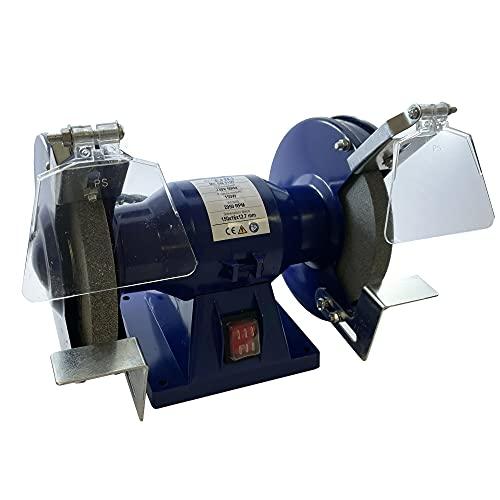 Smerigliatrice combinata da banco multifunzione, 150 WATT W diametro mola 150 mm, professionale, elettrica, velocità 2950 r.p.m - echoENG - MA SM 0150
