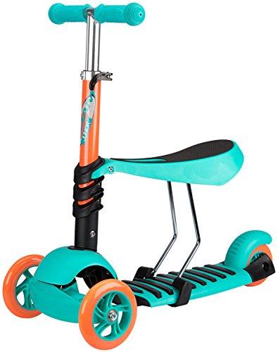 Nijdam Kids Three-Wheeler with Adjustable Seat Tri-Surfer Mini Emerald/Fluor Orange/Anthracite