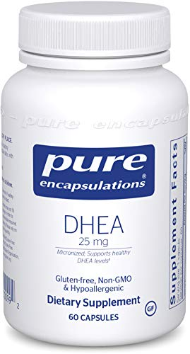 Pure Encapsulations - DHEA 25 mg - Micronized Hypoallergenic Supplement to Support Healthy DHEA Levels - 60 Capsules