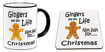 Ginger Christmas Mug and Coaster Set for Ginger People
