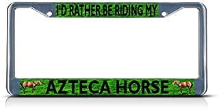 My Other Ride Is A Horse License Plate Frame Tag Holder