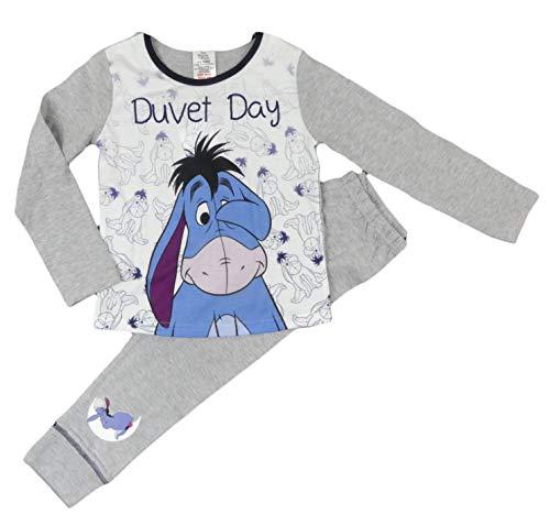 Disney Princess Little Mermaid Tatty Teddy Tinkerbell My Little Pony Schlafanzug für Mädchen Gr. 7-8 Jahre, Eeyore Bettdecke Day