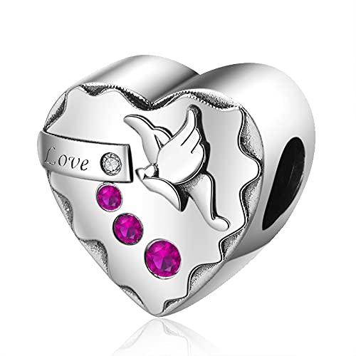 Pandora 925 Colgante De Plata Esterlina Fit Pulsera Romántica Cz Love Charms Cuentas De Corazón Para Mujeres Joyería De Moda Regalos Envío Gratis