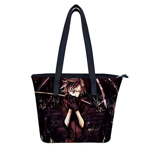 Anime Boy - Bolsos de cuero para mujer, diseño de moda, bolso de mano de mano de mano para mujer