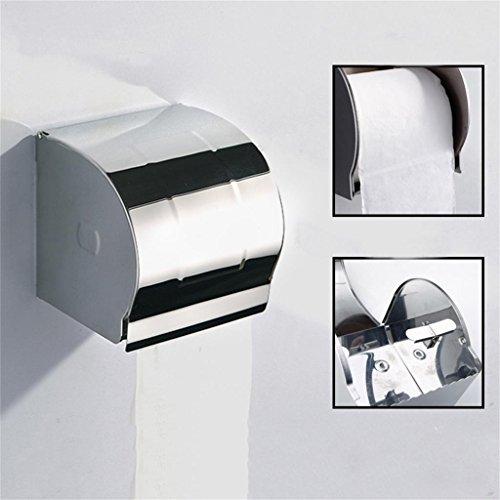 WeiMay Porte-papier Toilette,304 Acier Inoxydable Support Papier,D/érouleur-papier WC,Support Papier WC
