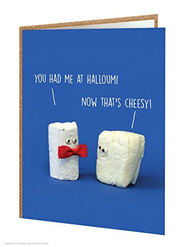 Umoristico 'You HAD Me at Halloumi' Birthday biglietto d' auguri