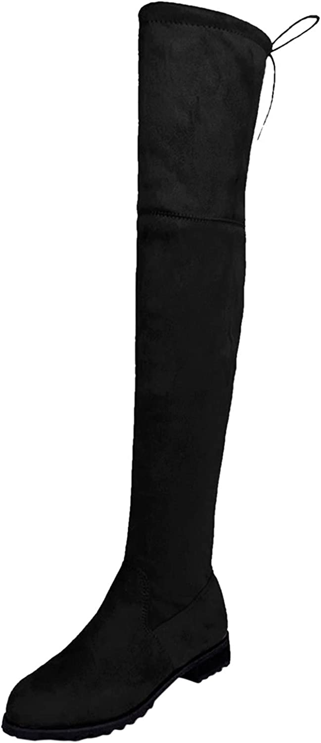 Women Boots Winter Over Knee Long Boots Fashion Boots Heels Autumn Quality Suede Comfort Square Heels