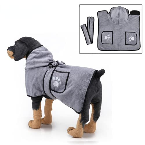 Toalla de baño de mascotas Súper absorbente XS S M L XL Dog Bathrobe Toallas de baño de microfibra QuickDrying Cat Dog Bath Towel Pequeño perro grande Toalla de baño para mascotas de secado rápido