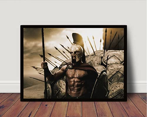 Quadro/Poster Com Moldura 300 Esparta Leonidas P5001