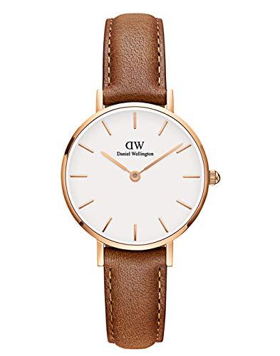 Daniel Wellington Unisex Erwachsene Analog Japanischer Quarz Uhr mit Leder Armband DW00100228