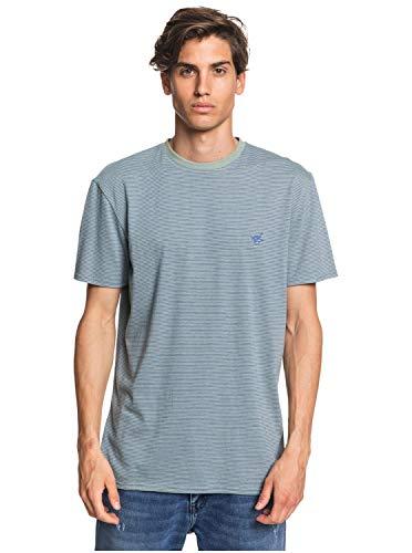 Quiksilver Herren Short Sleeve Knit Tee Button Down Hemd, Blendendes blaues Arbolito, Groß