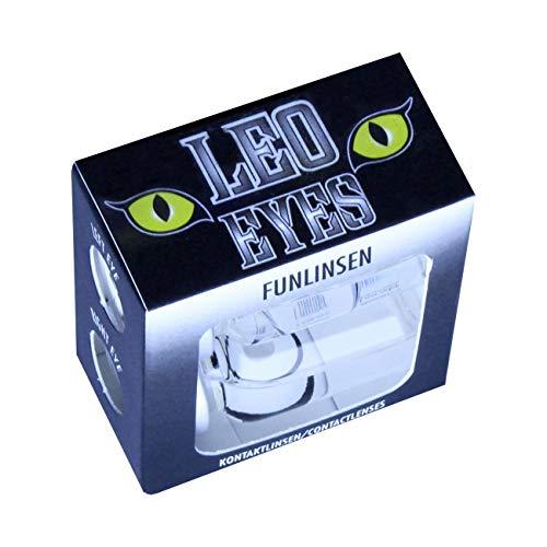 3-Monatslinsen WHITE MANSON, weiße Zombie Kontaktlinsen, Crazy Funlinsen, Halloween, Fastnacht, weiß - 6
