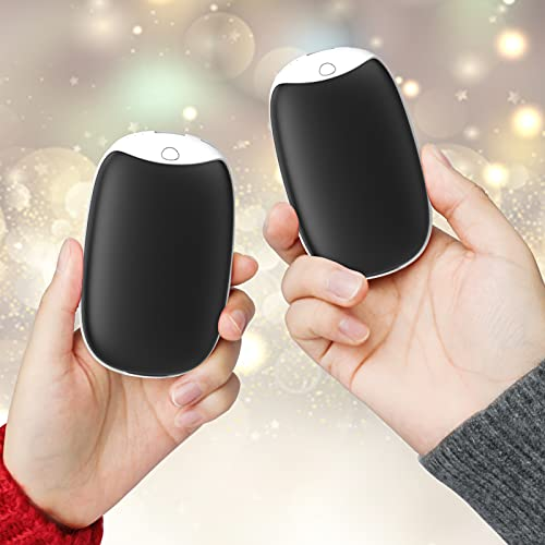 VNEED Hand Warmers Rechargeable, 2 in1 Magnetic Electric Hand Warmers Reusable, 4000mAh*2Packs, Long Lasting Heating Portable Perfect for Outdoors, Great Gift For Women Men