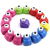 LOVEINUSA Punch Craft Set, 16 Pack Paw Print Teddy Bear Shapes Hole Punch Scrapbooking Supplies for Crafting & Nail Designs