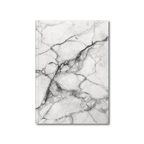 Imborrable Mármol Blanco - Cuaderno de notas con malla de puntos, 144 páginas, A5, 14.8 x 21 cm