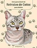 Livro para Colorir de Retratos de Gatos para Adultos