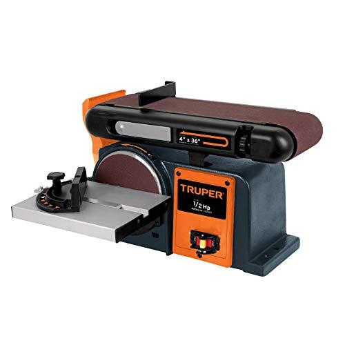 Truper PUL-4X6, Lijadora de banda y disco de 4″ x 6″, 1/3 HP