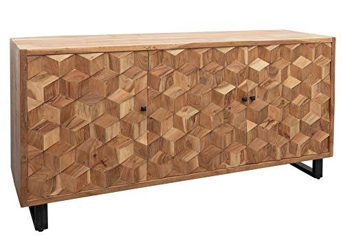 Sideboard Akazie 160x46x84 Hellbraun lackiert STILMÖBEL #101