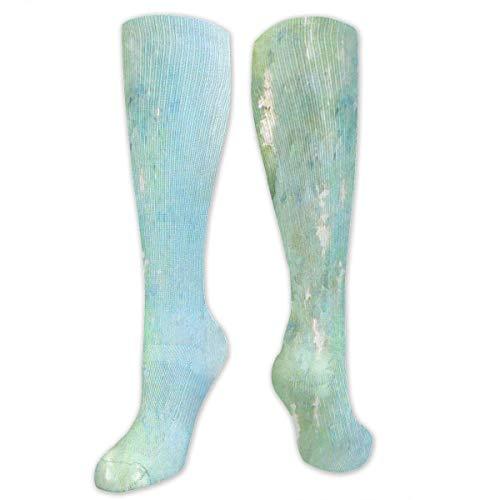 Serene Coastal Border Training Socks Crew Calcetines deportivos largos deportivos calcetines de fútbol suaves para hombres y mujeres