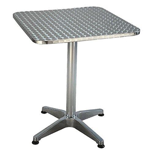Tavolo alluminio bar quadro cm. 70x70