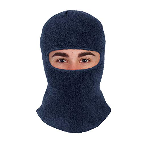 Men & Women Balaclava Ski Mask Winter Face Mask for Extreme Cold Weather, Windproof Fleece Snow Hood for Motorcycle Riding, Skiing, Snowboarding, Cycling Blue