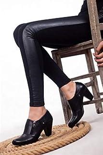 TARÇIN Hakiki Deri Günlük Kadın Topuklu Ayakkabı TRC50-1069