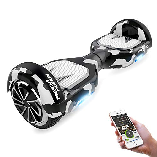 GEARSTONE Hoverboard Self Balancing Scooter 6.5' Segway Two-Wheel Self Balancing Hoverboard with Bluetooth Speaker and LED Lights Electric Scooter for Kids Adult Gift