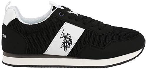 U.S. POLO ASSN. Exte, Sneaker Uomo, Nero (Blk 004), 43 EU