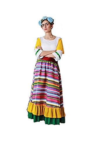 Verwen jezelf. Mexicaans kostuum voor volwassenen, speciaal voor kostuumfeesten en carnaval, eenheidsmaat, Eén maat, Mexicaans