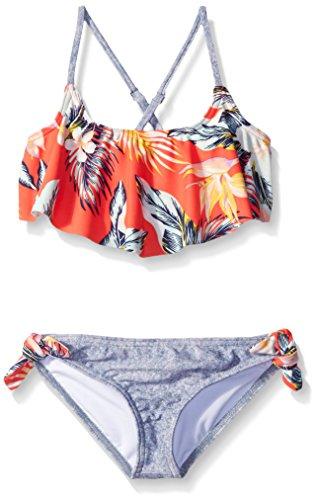 Billabong Girls' Little Aloha Yo Flounce Two Piece Swim Suit, Multi, 5