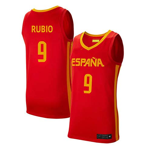 K&Q Camiseta Ricky Rubio Selección Española Baloncesto Rojo 2019 ...