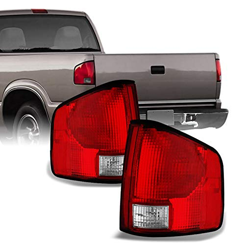 For Chevy S10 Pickup S-15 Somona Izusu Hombre Red Clear Tail Lights Brake Lamps Replacement Left + Right
