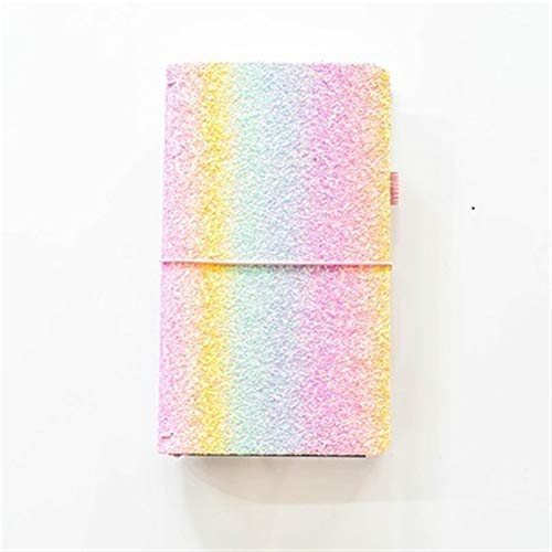 King Boutiques Cute Glitter Notebook Journal Cover for A6 A5 Notebook Diary Planner 2019 Agenda Travel Journal Bullet Journal (Color : Rainbow Box, tamaño : Travelers Box)