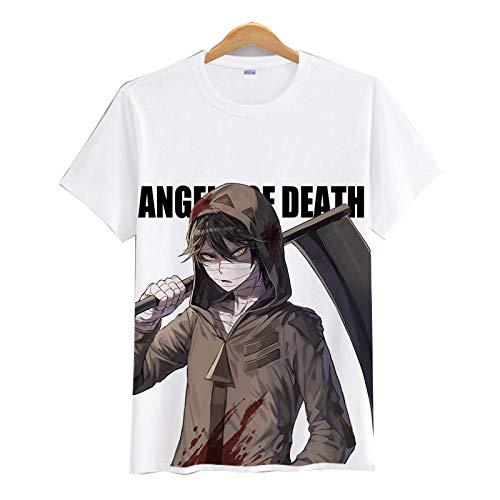 CAFINI Anime Angels of Death T-Shirt con Stampa di Cartoni Animati Gioco Giapponese Felpa Unisex Zack/Ray a Maniche Corte Top Streetwear di Moda(S-3XL)