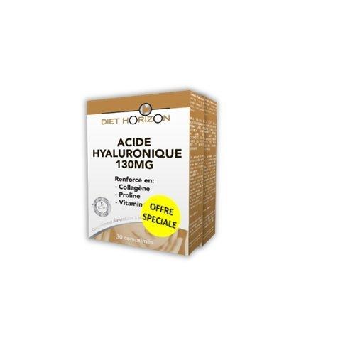 Offre spéciale Lot de 2 boites Acide Hyaluronique 130 mg - 30 comprimés - Diet Horizon