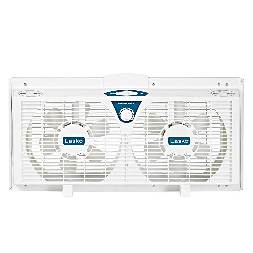 Lasko Twin Electric Reverse Window Fan, EA