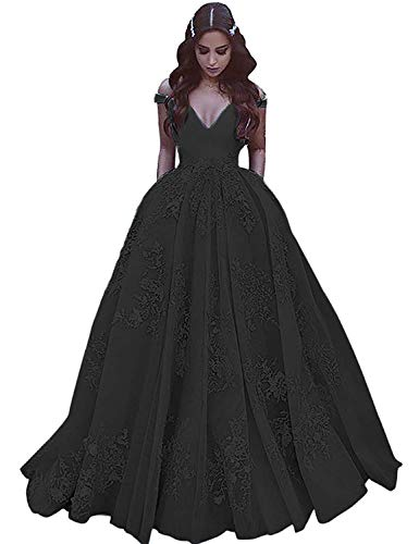 JQLD Elegant Lace Long Satin Prom Dress Off The Shoulder Gowns With Pockets