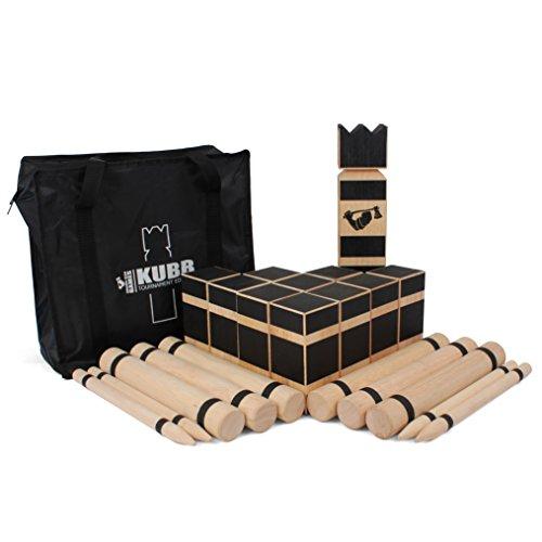 Grown Man Kubb Game - Viking Chess - Premium Hardwood Kubb Set - Official Tournament Size Kubb Lawn Game - Kubb Original Yard Game Games Kubb Tournament Edition (1 Pack)