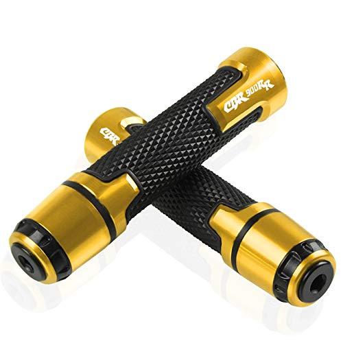 Moto Manija Agarre para Suzuki Burgman 650 400 125 200 AN650 AN400 AN400 AN125 AN200 Accesorios 7/8 '' 22mm Motor Cycle Mango Grip HANDERBAR HANDERBAR CUBIERTE (Color : Oro)