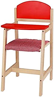 Red Wooden Doll High Chair