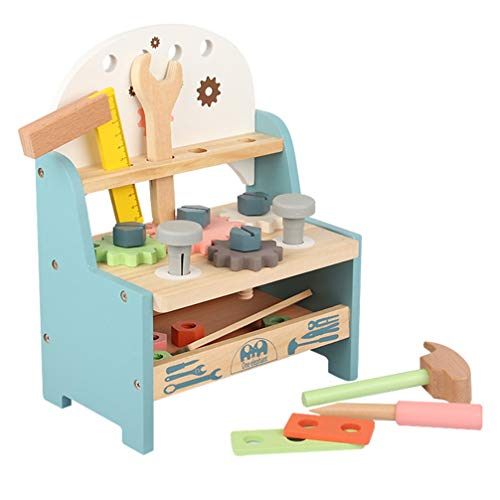 TOYANDONA 1 Set Holz-Werkbank, Konstruktions-Rollenspiel-Set, Holzwerkzeuge für Kinder.
