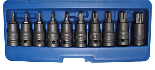 BGS 5097   Juego de puntas de vaso de impacto   entrada 12,5 mm (1/2')   perfil en T (para Torx) T20 - T70   10 piezas