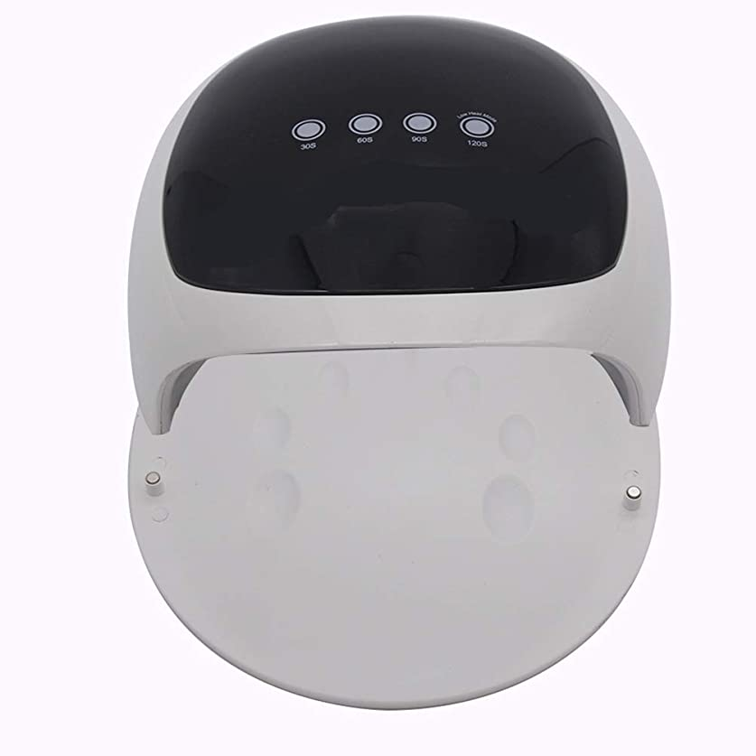 エミュレートする不毛の足ネイル光線療法機 ネイルドライヤー - 48WハイパワーネイルランプUV / LEDスマートセンサーワンボタンタイミングネイルゲル硬化ネイルドライヤー (色 : 白)